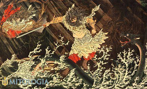 Mitología dios japones Susanoo