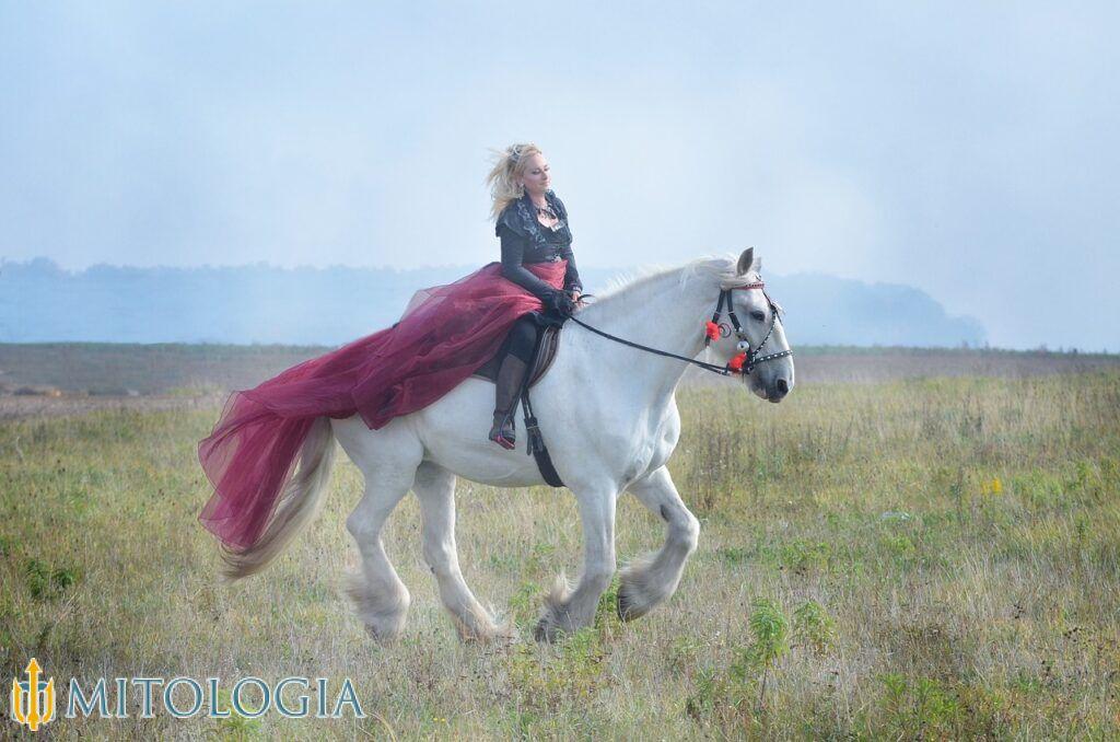 La gran reina Epona y los caballos